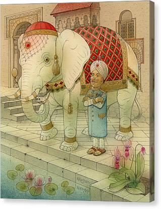 The White Elephant 05 Canvas Print by Kestutis Kasparavicius