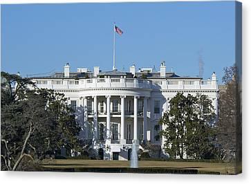 The White House - 1600 Pennsylvania Avenue Washington Dc Canvas Print by Brendan Reals