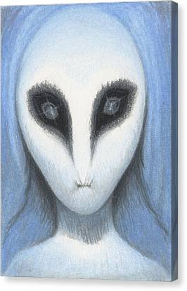 The White Owl Canvas Print by Amy S Turner