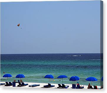 The White Panama City Beach - Before The Oil Spill Canvas Print by Susanne Van Hulst