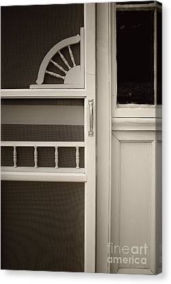 The White Screen Door Canvas Print by Margie Hurwich