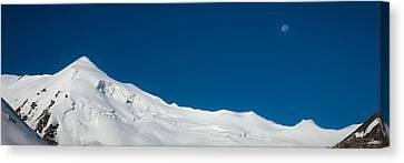The White Summit Canvas Print by Konstantin Dikovsky