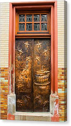 The Wine Doors Canvas Print by Amy Sorvillo