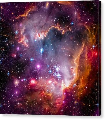 The Wing Of The Small Magellanic Cloud Canvas Print by Marco Oliveira