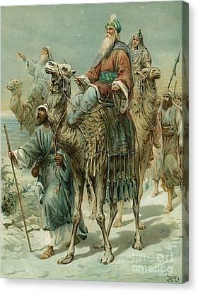 The Wise Men Seeking Jesus Canvas Print by Ambrose Dudley