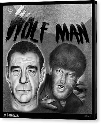 The Wolf Man Canvas Print by Greg Joens
