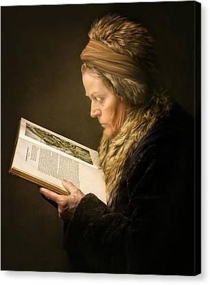 The Woman Reading Canvas Print by Anita Meezen