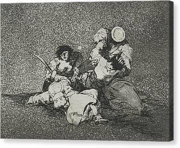 The Women Give Courage From The Series The Disasters Of War Canvas Print by Francisco Goya