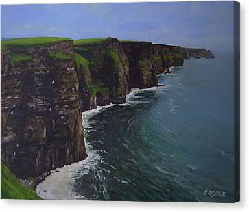 The Wonderful Cliffs Of Moher Canvas Print by Eamon Doyle