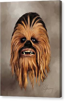 The Wookiee Canvas Print by Michael Greenaway