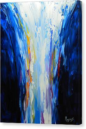 The Word Made Flesh, God Poured Out Canvas Print by Mike Moyers