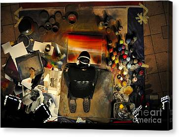 The Working Artist Canvas Print by David Lee Thompson