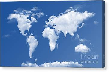 The World In The Clouds Canvas Print by Bedros Awak