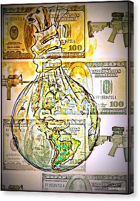 The World Is Money Canvas Print by Paulo Zerbato