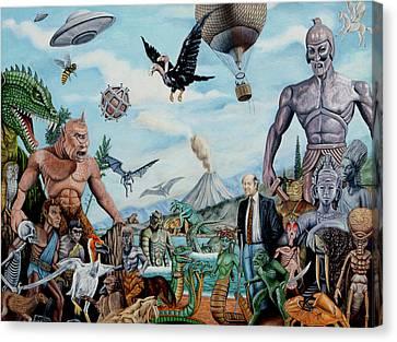 The World Of Ray Harryhausen Canvas Print by Tony Banos