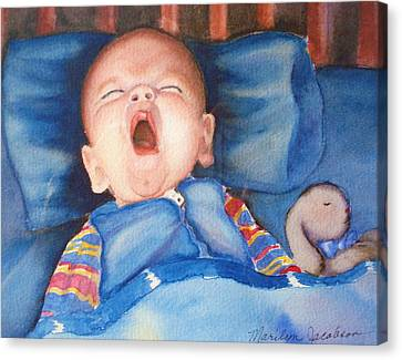 The Yawn Canvas Print by Marilyn Jacobson