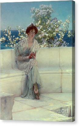 The Year's At The Spring -  All's Right With The World Canvas Print by Sir Lawrence Alma-Tadema