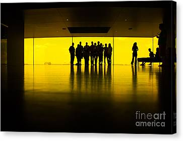 The Yellow Room Guthrie Theater Minneapolis  Canvas Print by Wayne Moran