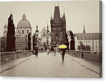 The Yellow Umbrella For Erin Canvas Print by Ivy Ho