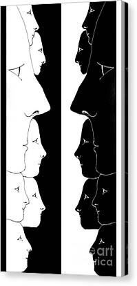 The Yin And The Yang Canvas Print by Helena Tiainen