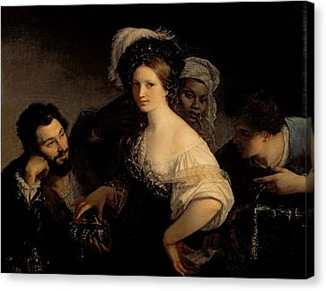 The Young Courtesan Canvas Print by Alexandre Francois Xavier Sigalon