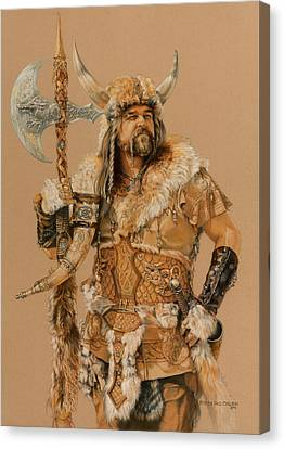 The Young Son Of Bor Canvas Print by Steven Paul Carlson