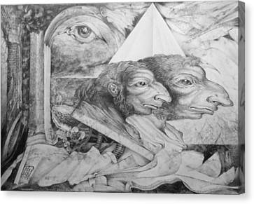 The Zwerg Nase Twins Dreaming Of World Domination Canvas Print by Otto Rapp
