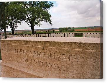 Canvas Print featuring the photograph Their Name Liveth For Evermore by Travel Pics