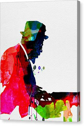 Thelonious Watercolor Canvas Print by Naxart Studio