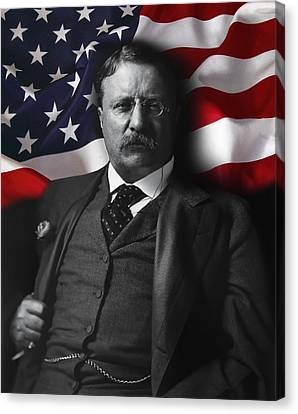 Theodore Roosevelt 26th President Of The United States Canvas Print by Daniel Hagerman