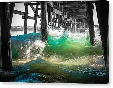 There Is Hope Under The Pier Canvas Print by Scott Campbell