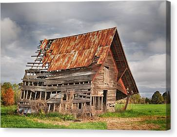There Was A Crooked Barn Canvas Print by Kim Hojnacki