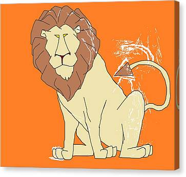 There Was A Lion Canvas Print by Arter