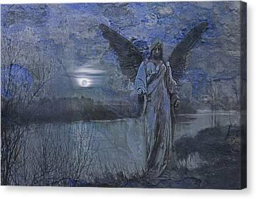 There's An Angel Canvas Print by Joachim G Pinkawa