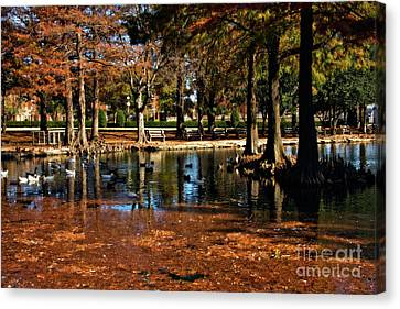 Theta Waterfowl Canvas Print by Lana Trussell