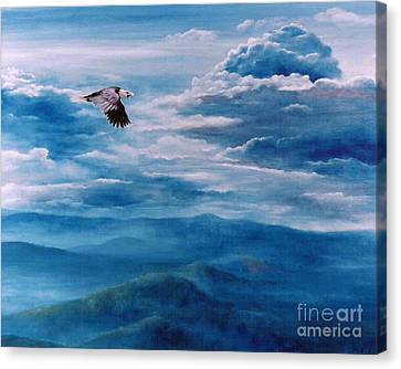 They Shall Mount Up On Wings Of Eagles Canvas Print by Ann  Cockerill