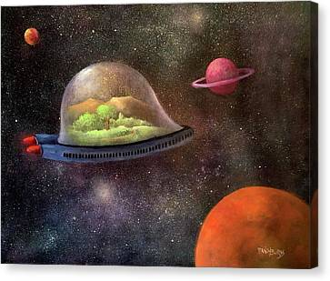 They Took Their World With Them Canvas Print by Randy Burns aka Wiles Henly