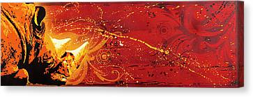 Thick Skin Hindering Growth Canvas Print by Tai Taeoalii