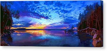 Thin Ice 2 Panorama Canvas Print by Bill Caldwell -        ABeautifulSky Photography