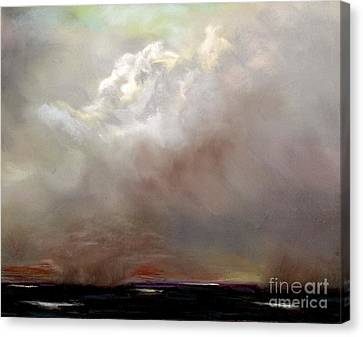 Things Are About To Change Canvas Print by Frances Marino