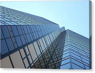 Things Are Looking Up Southfield Michigan Town Center Building Perspective Canvas Print by Design Turnpike