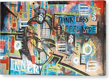 Think Less Feel More Canvas Print by Wall  Street