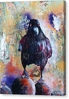 This Ebony  Bird Canvas Print by Sandy Applegate
