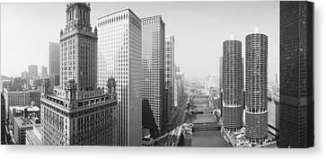 This Is A View Looking Over The Chicago Canvas Print by Panoramic Images