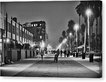 This Is California No. 11 - Venice Beach Biker Canvas Print by Paul W Sharpe Aka Wizard of Wonders