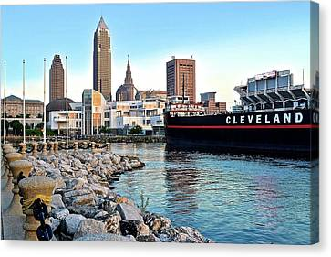 This Is Cleveland Canvas Print by Frozen in Time Fine Art Photography