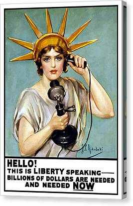 This Is Liberty Speaking - Ww1 Canvas Print by War Is Hell Store