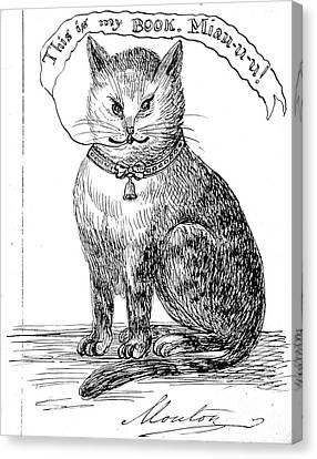 This Is My Book, Miau-u-u, 1859 Canvas Print by Wellcome Images