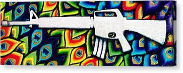 This Is My Rifle Canvas Print by Veronika Rose