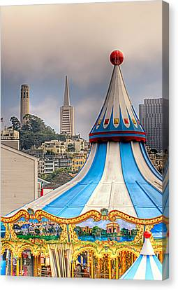 This Is San Francisco 1 Four Towers Canvas Print by Paul W Sharpe Aka Wizard of Wonders